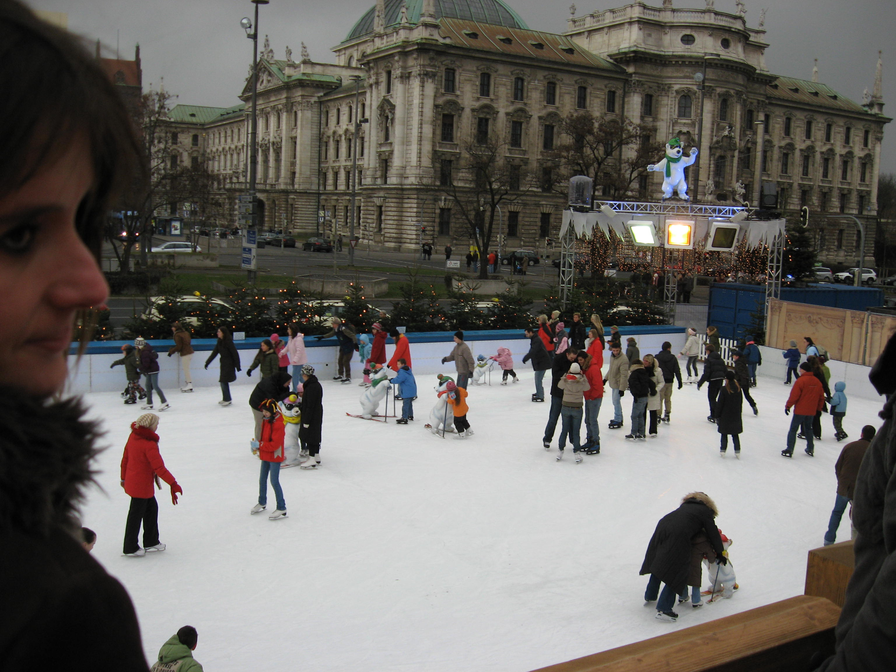 Karlsplaz - Munich - Ледена пързалка