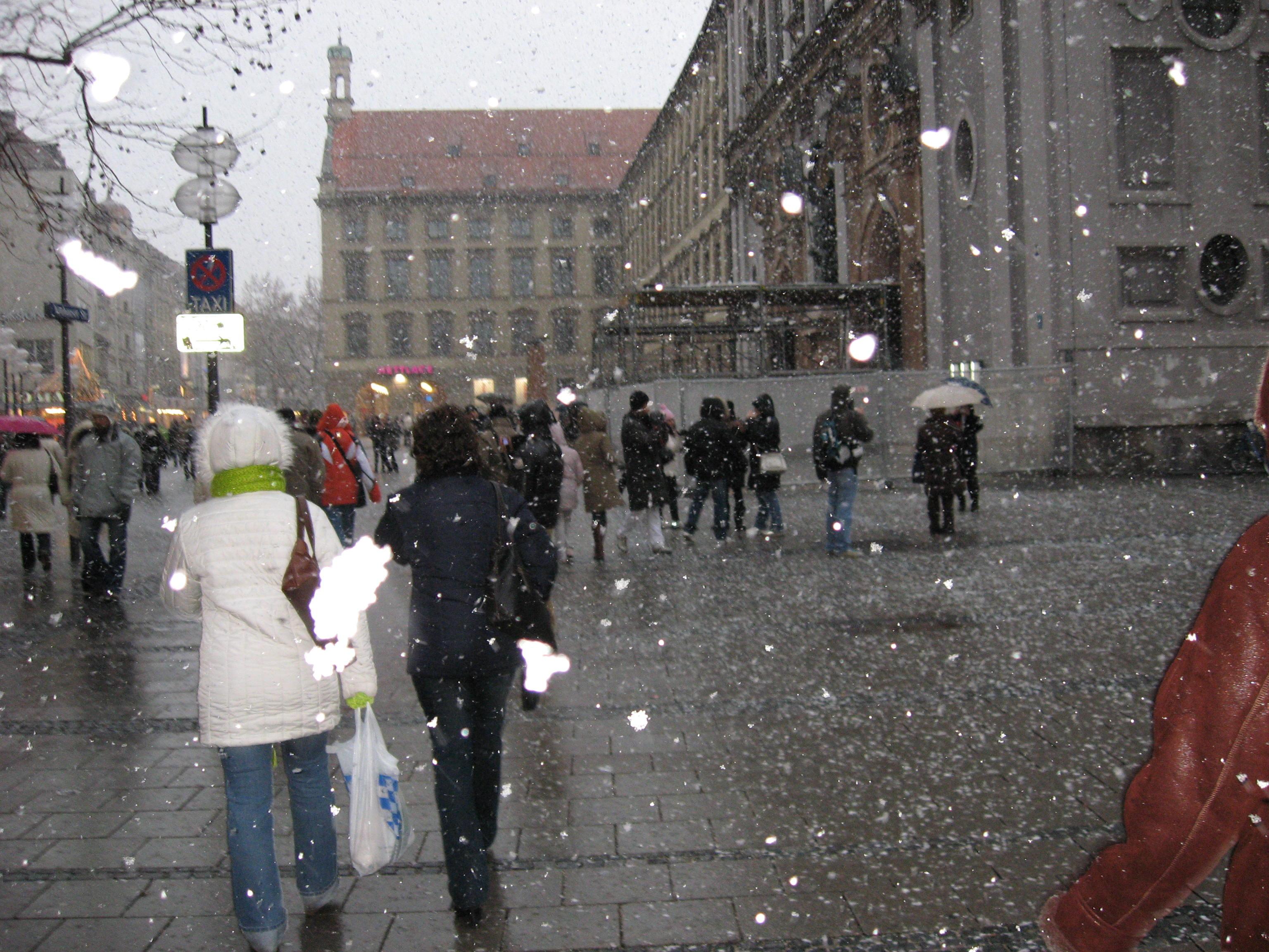 Сняг на връх нова година