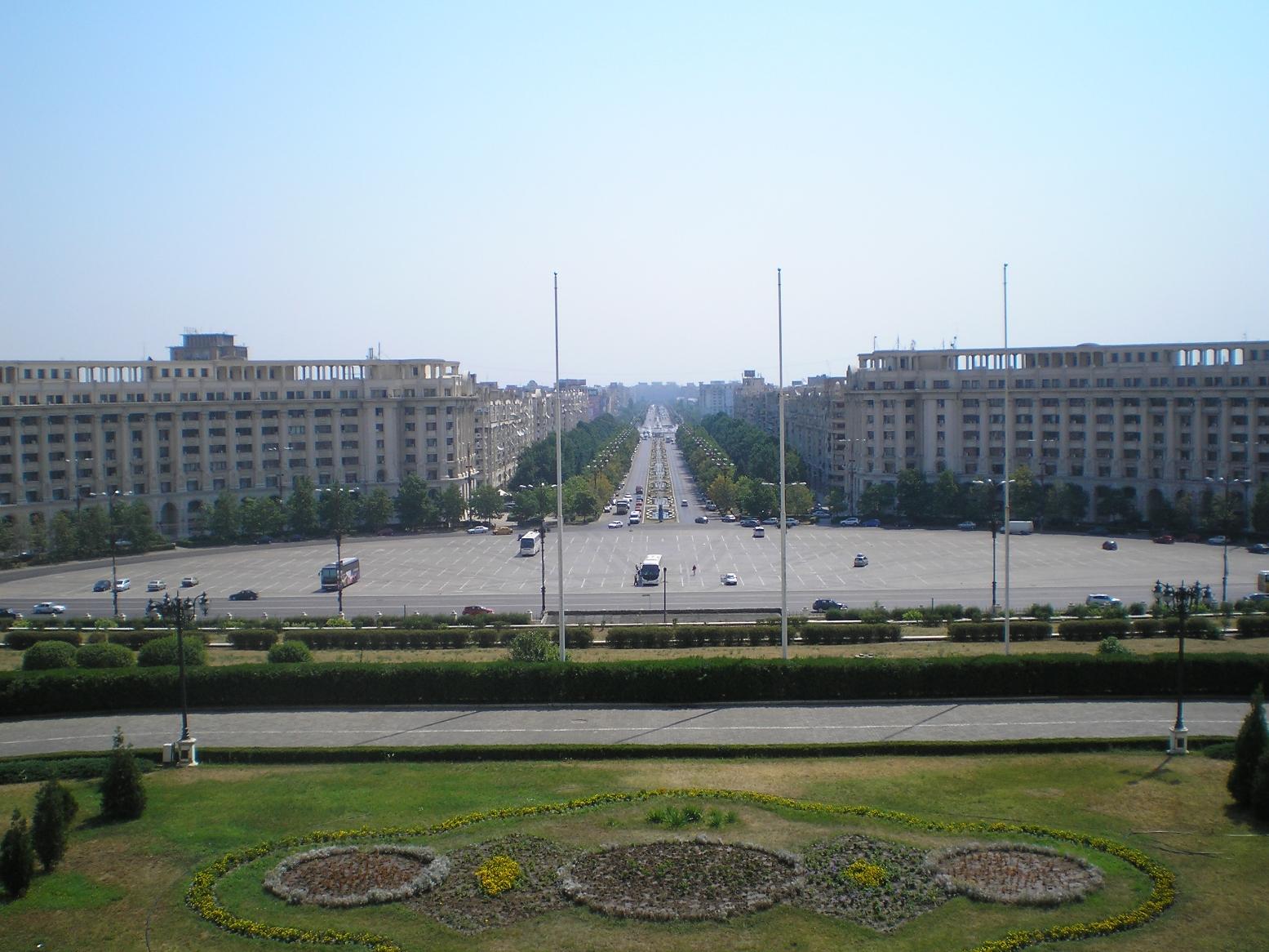 Изглед от Двореца на Чеушеско, Румъния